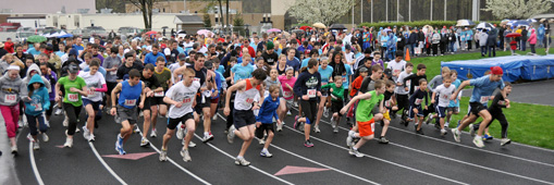 The Dara Hosta Olmsted Spirit 5K Race starts with over 600 runners and walkers.