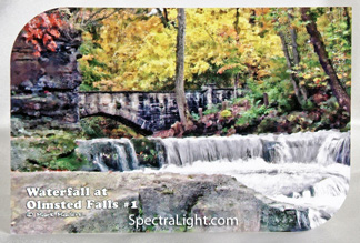 FREE uniquely shaped, limited edition post card of the waterfall at Olmsted Falls. Read the article to see how you can get one!