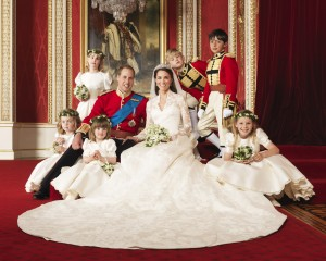 Photographer Hugo Burnand's favorite wedding photo: Prince William and Kate Middleton surrounded by the children.