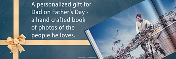 Fathers Day gift idea - a hand made book from Blurb