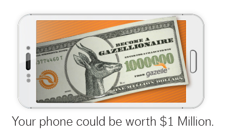 The Gazelle iPhone Sweepstakes could win you a cool million dollars - just by selling your old phone!