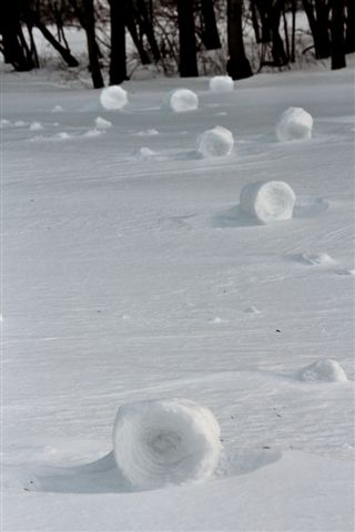Snow rollers - a rare phenomena occurring once every couple years around the world hit parts of Pennsylvania and Ohio
