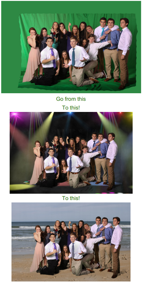 Green Screen technique lets photographers place their subject anywhere they choose without having to leave the studio!